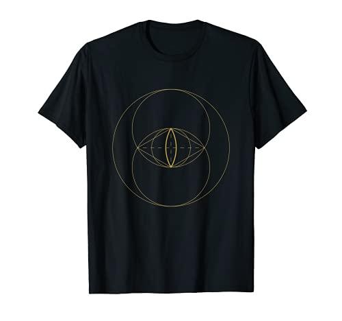 Sacred Geometry Vesica Piscis Geometric Spiritual Mandala Camiseta