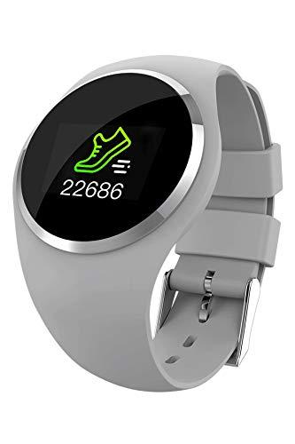 Fitness Tracker, Bluetooth Touchscreen Waterproof Activity Tracker Blood Pressure Heart Rate Monitor Sport Pedometer Step Counter Smart Watch