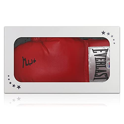 exclusivememorabilia.com Muhammad Ali firmó el Guante de Boxeo (PSA DNA 6A07662). Caja de Regalo