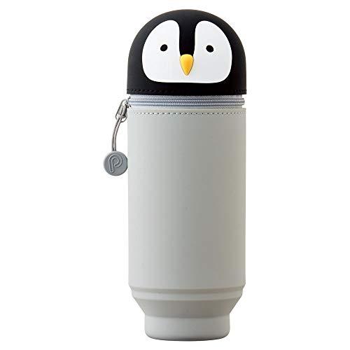 LIHIT LAB. PuniLabo A7714-10 - Estuche para bolígrafos (soporte para bolígrafos), diseño de pingüino, 5,9 x 8,3 pulgadas
