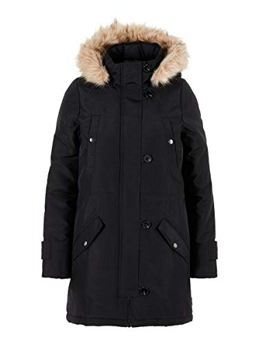 Vero Moda Vmexcursion Expedition Aw193/4parka Noos Abrigo, Negro (Black Black), 40 (Talla del fabricante: Medium) para Mujer