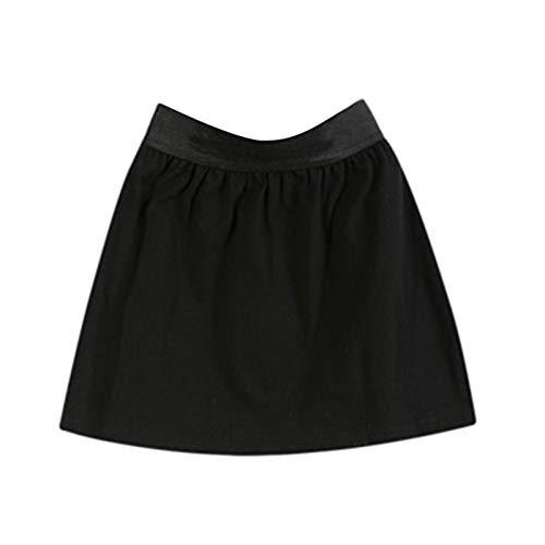 Accesorios de tela para bricolaje, falda, ropa para mujer, multiusos, fácil de llevar, cintura elástica, falda para mujer o niña, para traje de invierno, color negro L A