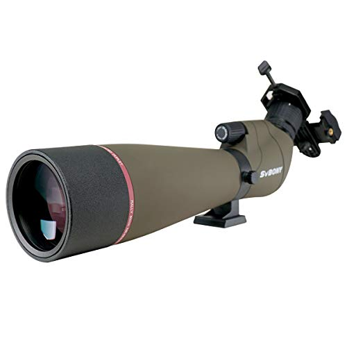SVBONY SV13 Spotting Scopes for Hunting,20-60x80,Angled,IPX7 High Power...