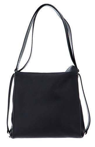 BREE Damen Pure 6, Black, Hobo Backpack S S20 Rucksack Schwarz (Black)