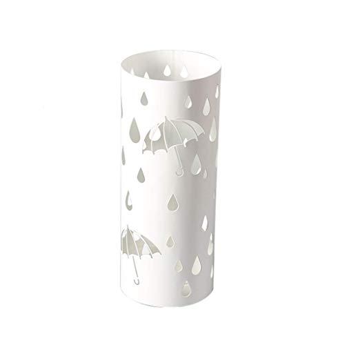 Giow Regenschirm für den Eingangsbereich, einfacher Sonnenschirm, mit abnehmbarem Abtropfschale, Weiß, 19,3 x 7,7 cm (Motiv: Schmetterling) Schirm