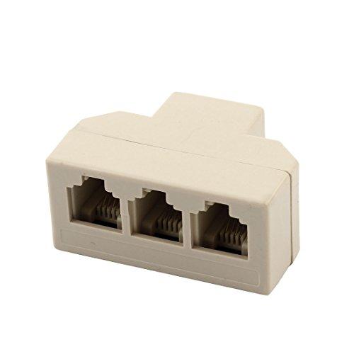 sourcingmap Plastica RJ11 1 a 3 Femmina adattatore telefonico connettore Ethernet Splitter