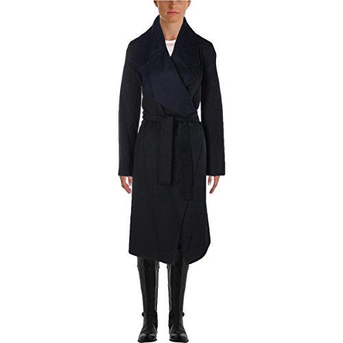 Elie Tahari Milano Damen Mantel aus Wolle - Blau - Medium/Large