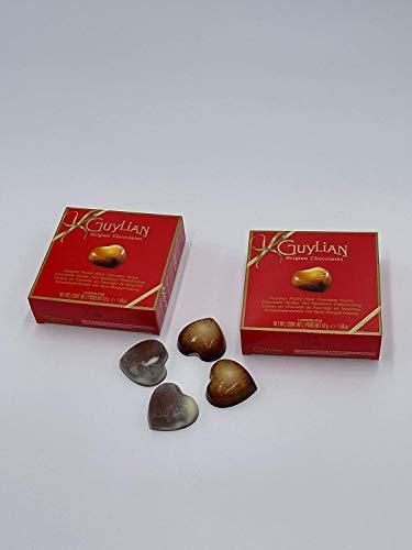 Scatola regalo di cioccolato cuore (Cioccolato Guyliano 50g x2)