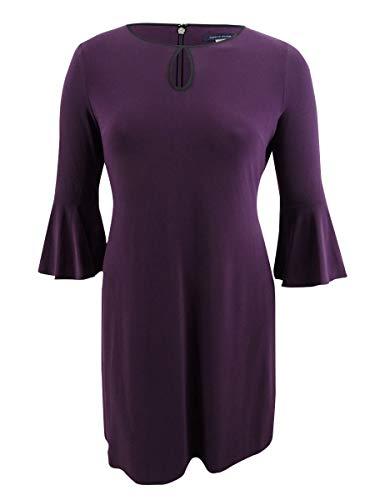 Tommy Hilfiger Damen Kleid Keyhole Etuikleid -  Violett -  44
