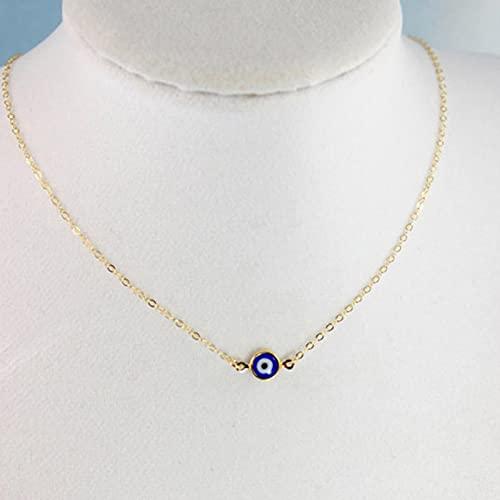 SALAN Collar con Colgante De Ojo Malvado Turco Vintage Bohemio, Cadena De Clavícula De Moda, Collar Largo De Declaración, Joyería De Mujer