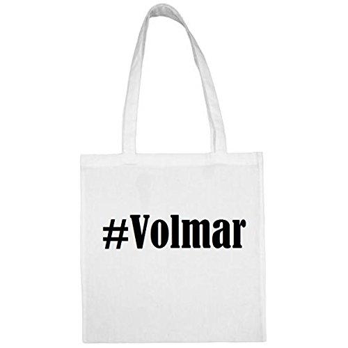 Tasche #Volmar Größe 38x42 Farbe Weiss Druck Schwarz