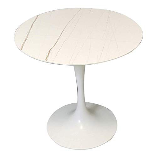 INSTO Furniture Feet with a Load Capacity of 300Kg for Household Dining Tables Reception and Negotiation Round Table,White,80Cm