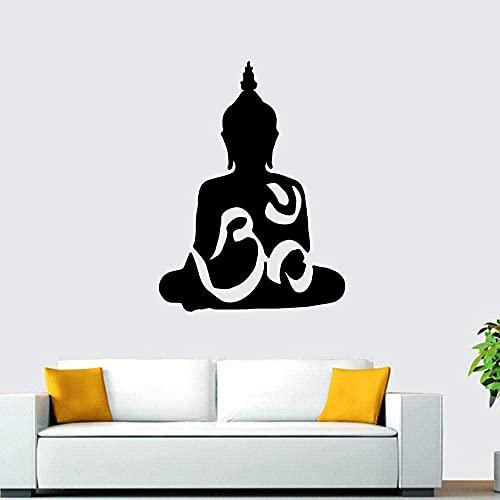 Fondo de pantalla autoadhesivo de vinilo de Buda de dibujos animados para la ventana Pegatinas de pared impermeable papel tapiz 43x57cm N4