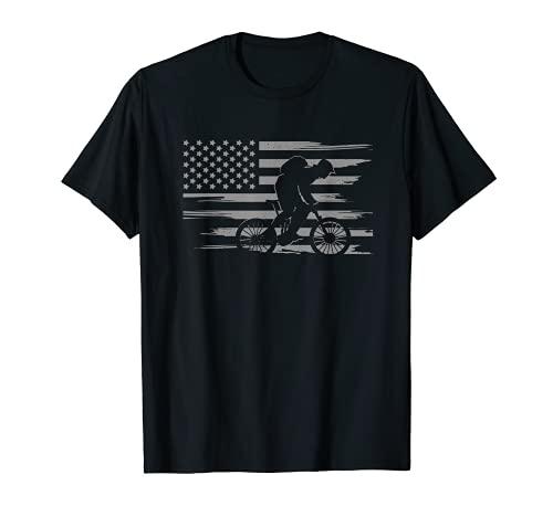 Mountainbikebekleidung mit amerikanischer Flagge, Mountainbike T-Shirt