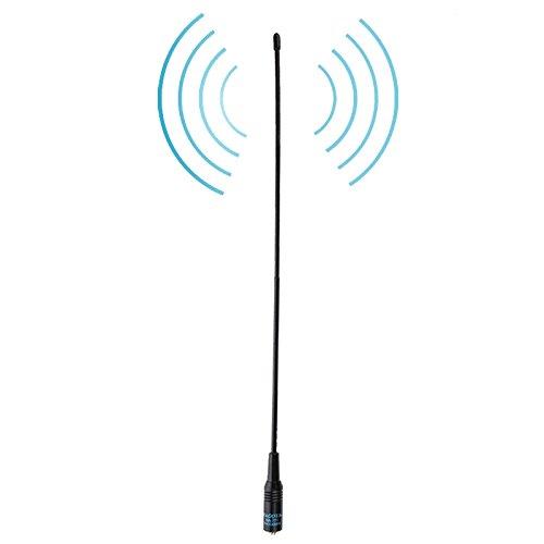 Antena de Banda Dual Radio Handheld Walkie Talkies NA-771 144 / 430MHz de Doble Banda Flexible Primavera Whip SMA-F Radio Handheld Antena, Antena Longitud: 38 cm, walkie Talkie, Liqingshangmao