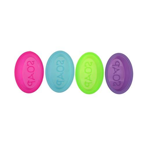 ShawnBlue Seifenherstellung liefert. Kreative Silikon Seifenform 3D Massage Seife Machen Werkzeug DIY Handgemachte ovale Seifenform (Color : Random 4pcs)