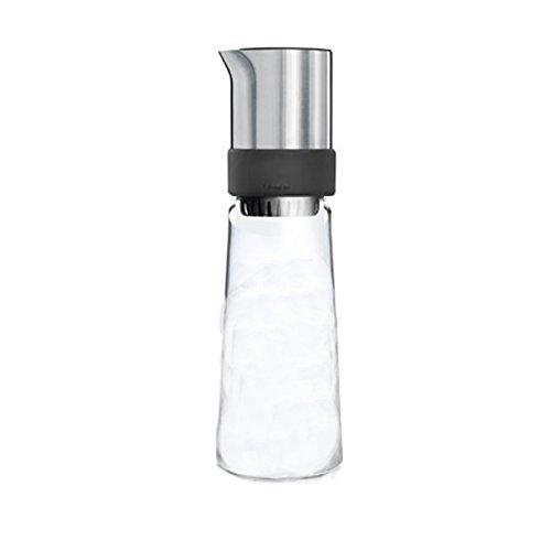 Blomus Eistee-Zubereiter Tea-Jay 800ml, Edelstahl, Silber/transparent/schwarz, 9.2 x 9.2 x 30 cm