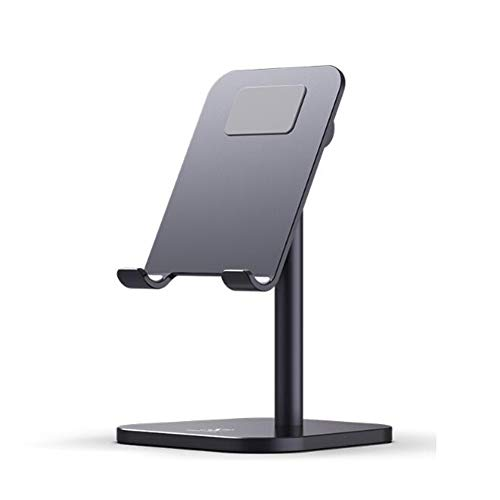 QIDI Mobile Phone Stand Desktop Lazy IPad Flat Metal Shelf Small Portable Bedroom Home Office Bedside Bed Overhand Rack (Color : A)