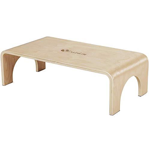EARTHLITE Holzhocker Big Step - Tritt/Schemel aus Veredeltem, Nachhaltig Angebautem Ahornholz, Hochwertig & Stabil (18cm)