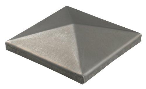 GAH-Alberts 418038 Pfostenkappe für Vierkantmetallpfosten, zum Anschweißen, Stahl roh, 100 x 100 mm / 10 Stück