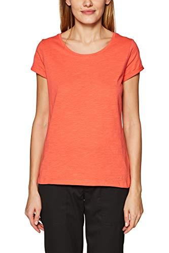 edc by ESPRIT Damen 999CC1K802 T-Shirt, Rot (Coral 3 647), X-Small (Herstellergröße: XS)