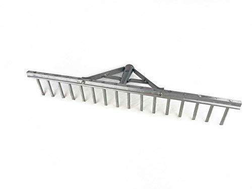 Rekord Aluminium Rechen, 16 Zinken, Arbeitsbreite ca. 62 cm, Alu-Rechen Landrechen Heurechen Rasenrechen