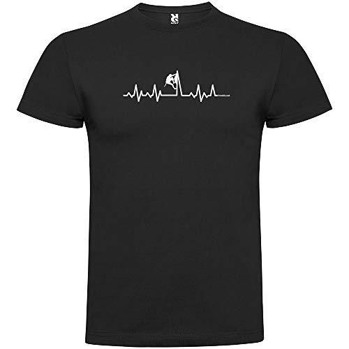 Camiseta Montañismo Climbing Heartbeat Manga Corta Hombre Negro S