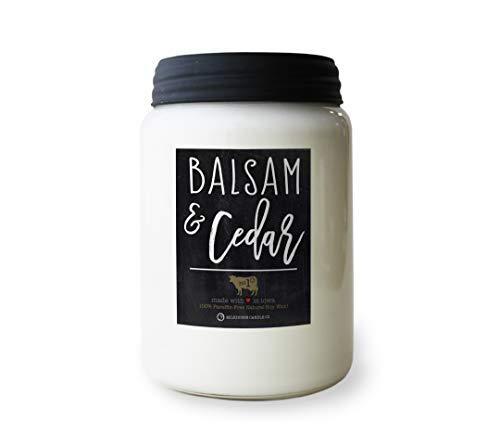 Milkhouse Candle Company, Farmhouse Collection, 26 Ounce Apothecary Jar, Balsam & Cedar