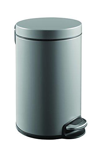 EKO Poubelle à Pédale Métal Inox 38 x 22 x 38 cm 8 litres
