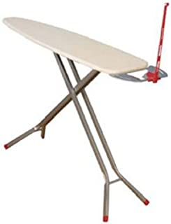 Household Essentials Deluxe Rectangle Four Leg Ironing Board in Satin Silver