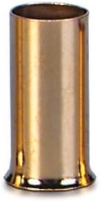 Sinuslive 2 5mm Aderendhülsen 20 Stück Vergoldet Ae 2 5 Kabel Endhülsen Auto