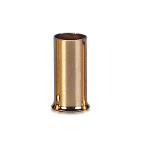 Sinuslive 10mm² Aderendhülsen 12 Stück vergoldet AE-10 Kabel Endhülsen