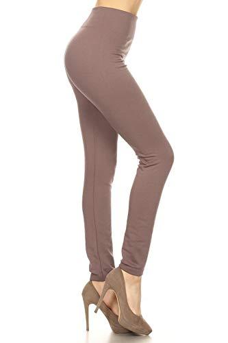FL900 FLR-Mauve Fleece Lined Leggings, One Size