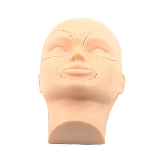 Modèle de formation pratique maquillage oeil plat faux cils faux cils extension de modèle de modèle pratique de tatouage lèvre tête de mannequin