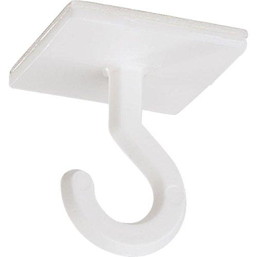 LEMAX® Deckenhaken, zur Deckenbefestigung | Kunststoff weiß, selbstklebend 25 x 25 mm, 10/VE (Klebehaken) praxisbewährt