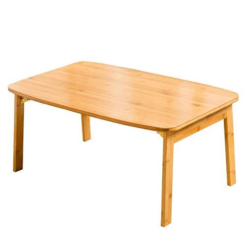 AWJ Mesa de Cama con Ruedas Escritorio portátil Plegable multifunción, Escritorio, también se Puede Utilizar para Cama, sofá, Madera y marrón, Disponible en Dos tamaños