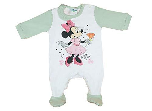 Disney Baby Minnie Mouse - Pijama para nia con pie, sin mangas y de manga larga, muchos modelos, tallas 56, 62, 68, 74 Modelo 6 12 meses