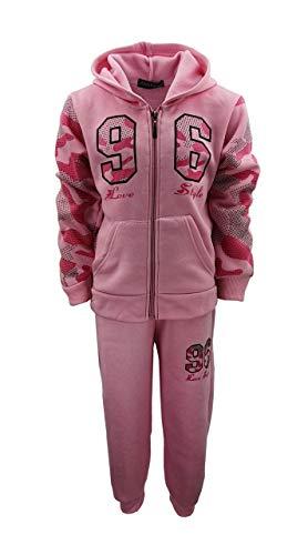 Sports Girl Mädchen Nicki Sweatanzug Freizeitset, Sweat-Jacke + Jogginghose in Rosa, Gr. 122/128, MF549.8