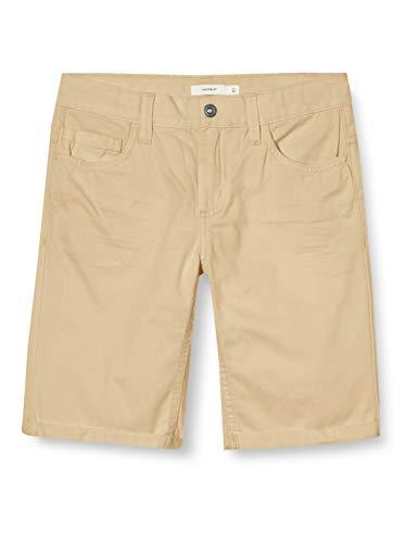 NAME IT Jungen Nkmsofus Twiisak Long Camp Shorts, Beige (White Pepper), 146
