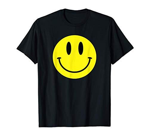 Classic Smile print Retro 80s Smilie Acid House Emoticon Camiseta