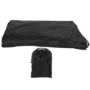 Toasses Negro U □ Forma Sofá Cubierta Polvo □ A Prueba de Impermeable Muebles de Exterior Funda Protectora 321x155x76 / 86cm