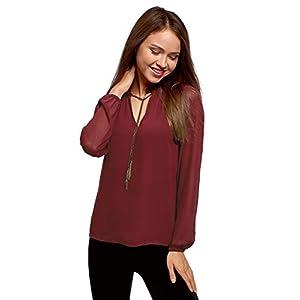 oodji Ultra Mujer Blusa Estampada con Cadenas   DeHippies.com
