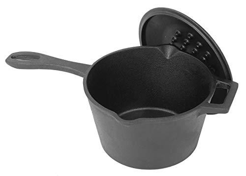 Bayou Classic 7448, 2.5-Qt. Cast Iron Bean Pot with Lid,Black