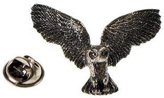 Spilla a forma di gufo in peltro uccello gufo