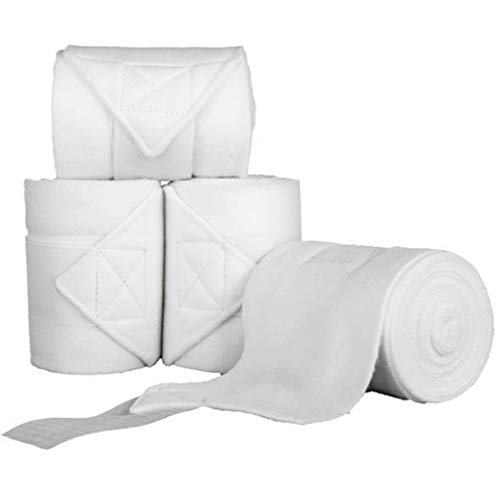 HKM Polarfleecebandagen, 4er Set, weiß, 200 cm