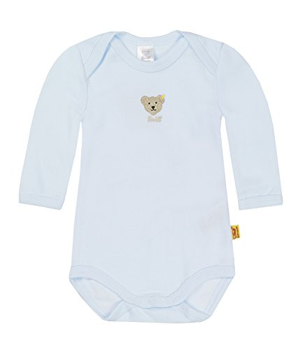 Steiff Steiff Unisex - Baby Body 0008502 1/1 Arm, Einfarbig, Gr. 104, Blau (Steiff Baby Blue)