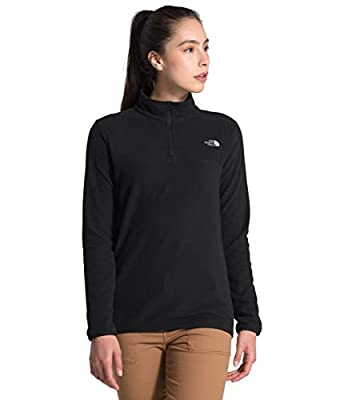 The North Face Women's TKA Glacier ¼ Zip, TNF Black/TNF Black, Small