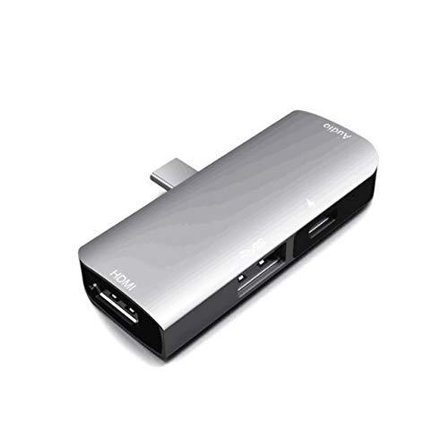 SZMYLED - Hub USB C, 4 in 1, tipo C a 4K60Hz, adattatore HDMI con USB-C PD 60W, USB 3.0, uscita audio 3,5 mm