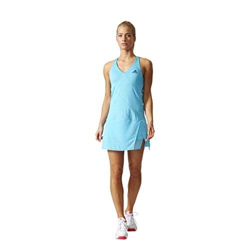 adidas Damen Melbourne Line Kleid, Samba Blue/Mystery Blue, XS
