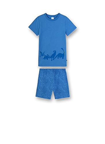 Sanetta Jungen Pyjama kurz Zweiteiliger Schlafanzug, Blau (blau 50134), 92 (Herstellergröße:092)